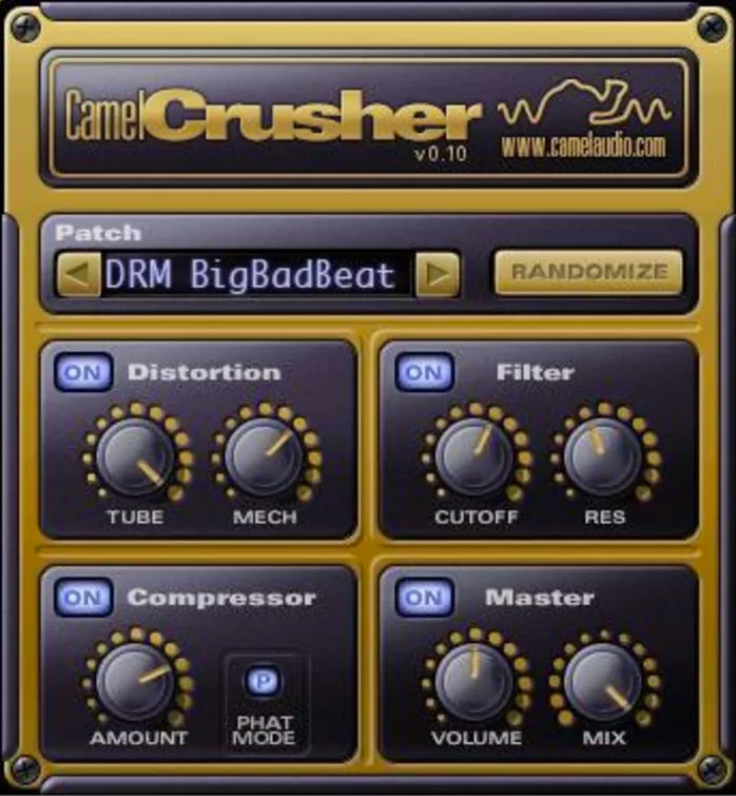 CamelCrusher (Compressor, Distortion, Filter) • Audio