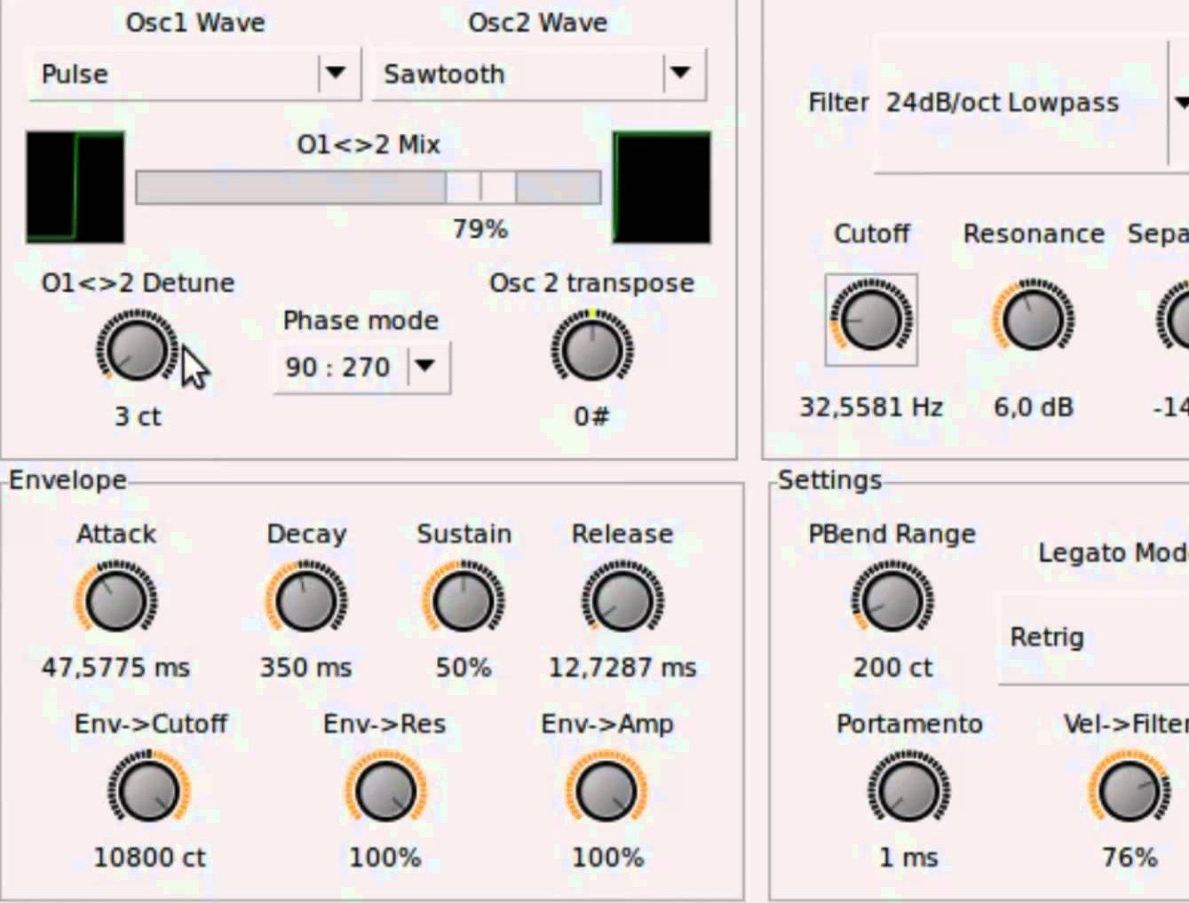 Calf Monosynth Synth Synth Analogue Subtractive Audio