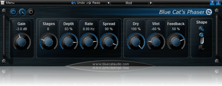 Blue Cat's Phaser | Audio Plugins for Free