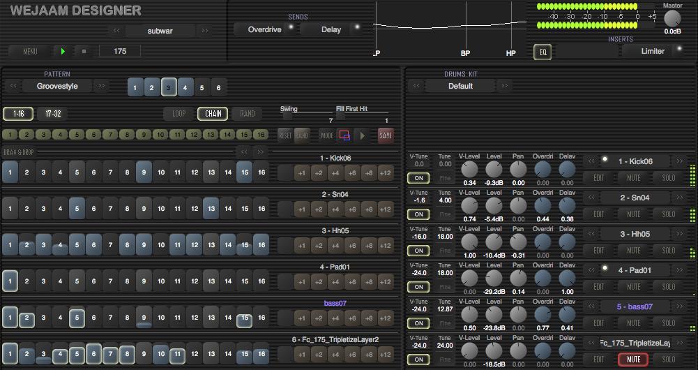 Wejaam Designer (Drum machine, groovebox, Synth) • Audio Plugins