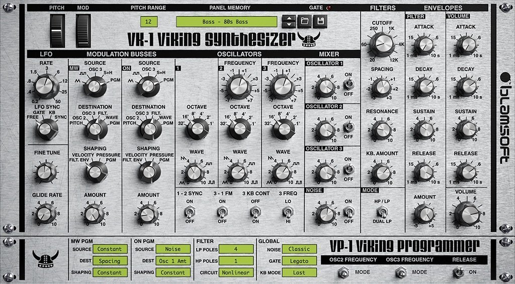 VK-1 VIKING SYNTHESIZER (Synth, Synth Analogue/Subtractive) • Audio Plugins for Free